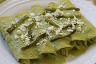 Receta de Enchiladas de Pollo Ligeras con Rajas